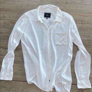 Rails white button down shirt